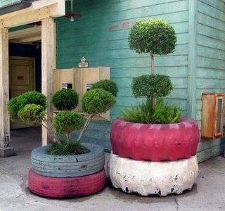 how to recycle tires in your garden