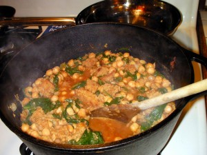 Moorish Style Chickpea and Spinach Stew
