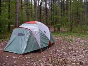 Our REI Basecamp 4 tent