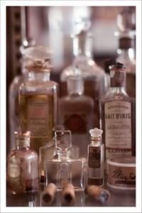 Old perfume bottles...